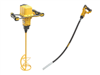 Akku stavvibratorer og røreværk