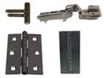 Møbel-, inventarhængsler, skuffebeslag og møbellåse