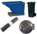 Affaldsbeholdere, skaktluger og tilbehør